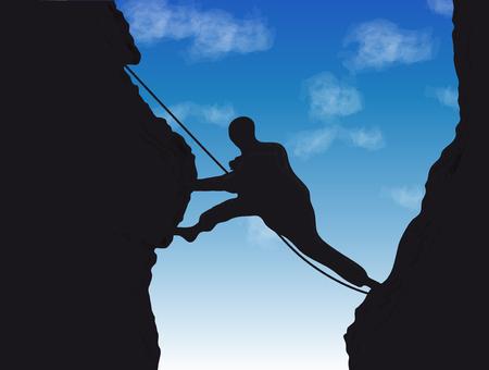 crampons: Mountaineer Illustration