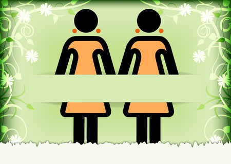 Congratulations card for same-sex marriage Vector