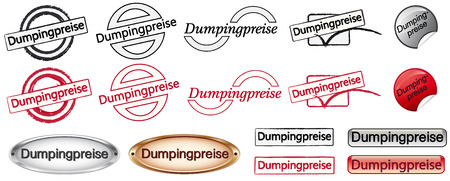dumping: Dumping prices Illustration