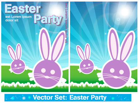 Set Easter Party Vector