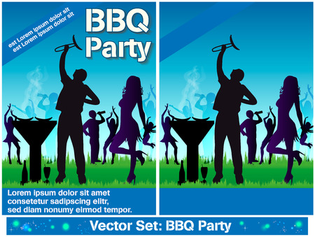 Flyers barbecue Vector