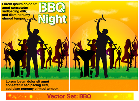 Flyers barbecue Illustration