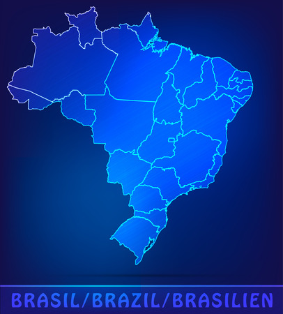 belem: Map of Brazil with borders as scrible Illustration