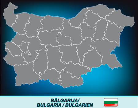 ruse: Map of Bulgaria with borders in bright gray
