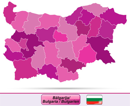 ruse: Map of Bulgaria with borders in violet