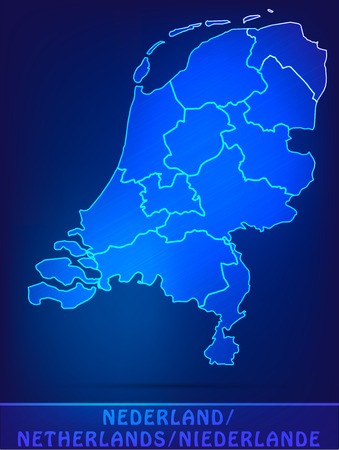 haarlem: Map of Netherlands with borders as scrible Stock Photo