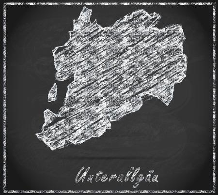 Kaart van Unterallgaeu als schoolbord