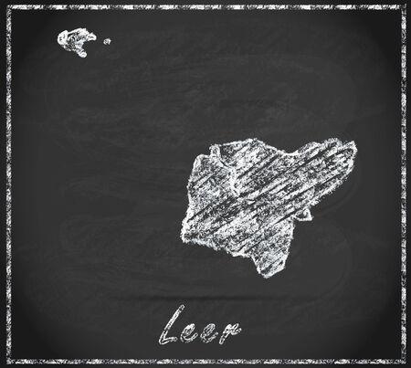 leer: Map of Leer as chalkboard