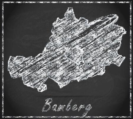 li: Map of Bamberg as chalkboard