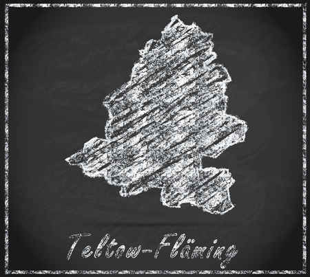 glacial: Map of Teltow-Flaeming as chalkboard