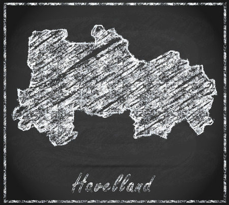 falkensee: Map of Havelland as chalkboard