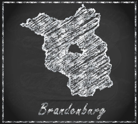 falkensee: Map of Brandenburg as chalkboard