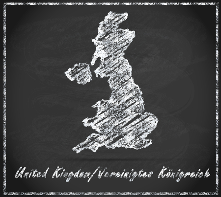 england map: Map of England as chalkboard