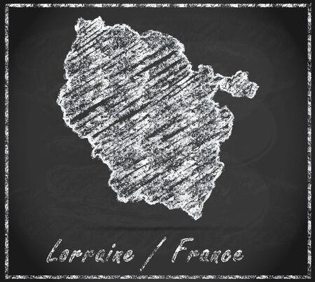 Map of lorraine as chalkboard