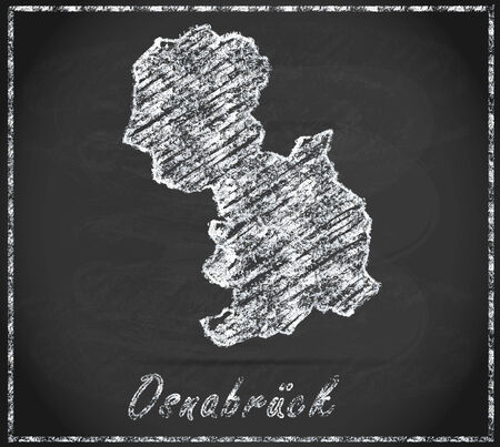 melle: Map of Osnabrueck as chalkboard
