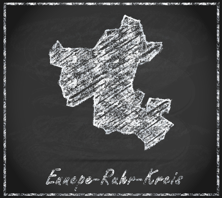 dysentery: Map of Ennepe-Ruhr-Kreis as chalkboard