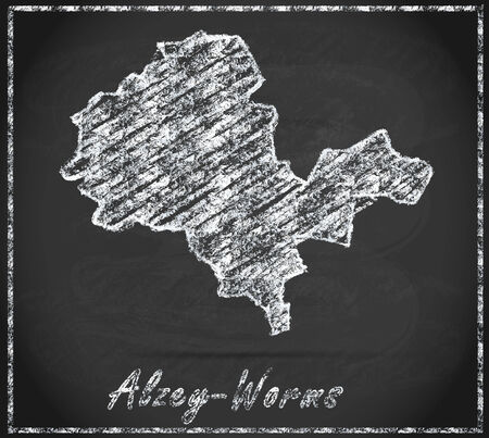 Map of Alzey as chalkboard