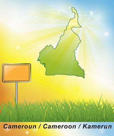 Map of Cameroons Stock fotó