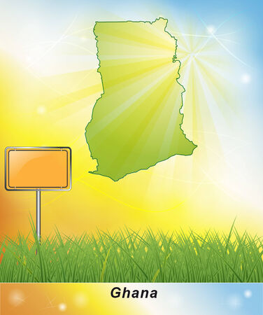 general map: Map of Ghana Stock Photo