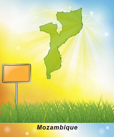mozambique: Map of mozambique