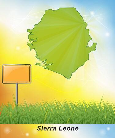 leone: Map of sierra leone Stock Photo