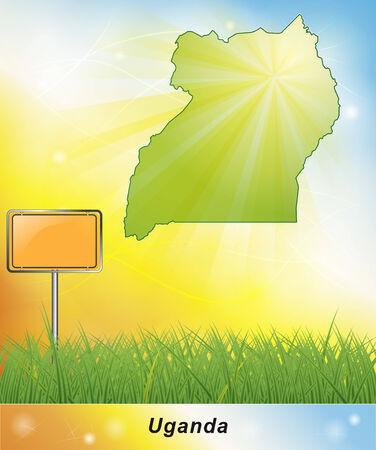 uganda: Map of Uganda
