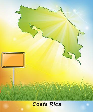 Map of Costa-Rica Stock fotó