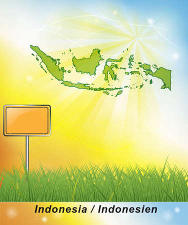 general map: Map of Indonesia Stock Photo