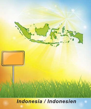 Map of Indonesia Stock fotó