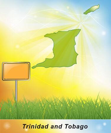 trinidad and tobago: Map of Trinidad and Tobago Stock Photo
