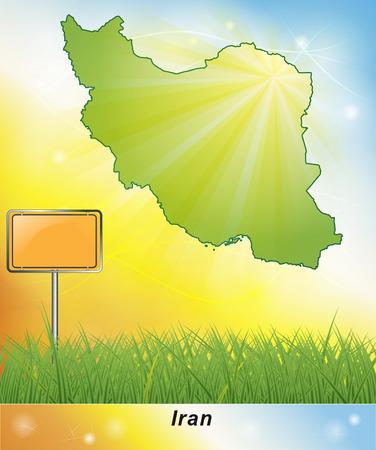 Map of Iran Stock fotó