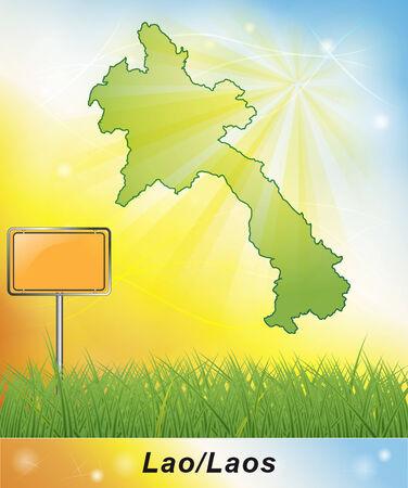 Map of Laos Stock fotó