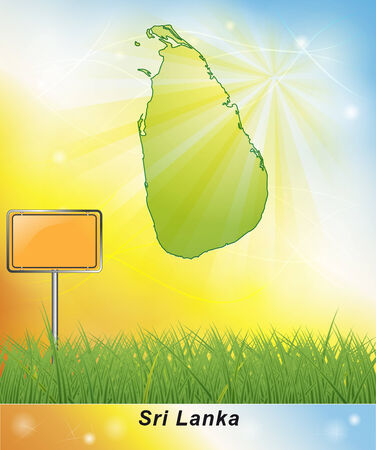 Map of Sri Lanka Stock fotó