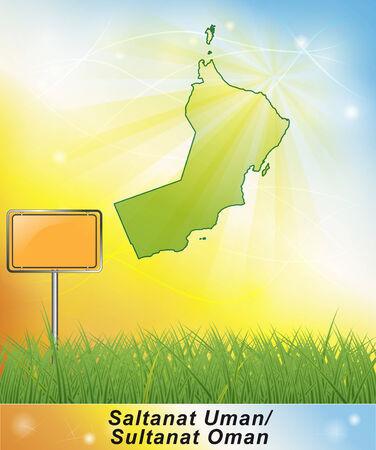 Map of Oman Stock fotó