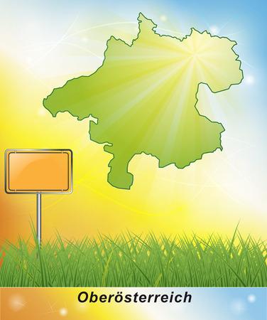 upper: Map of upper Austria