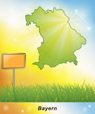 bavaria: Map of Bavaria Stock Photo