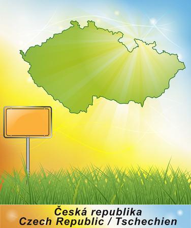Map of Czech Republic Stock Photo
