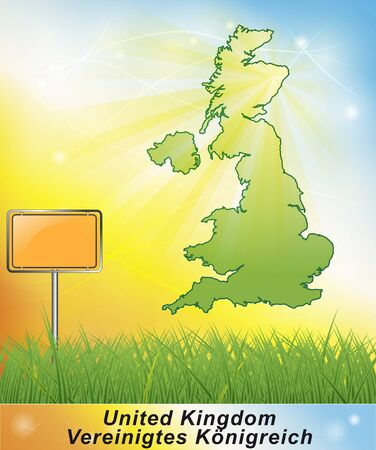 Map of England photo