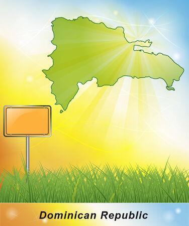dominican republic: Map of Dominican Republic Stock Photo