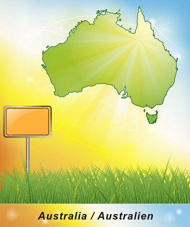 broken hill: Map of Australia