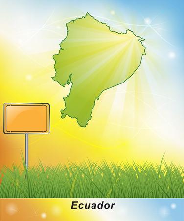 ecuador: Map of ecuador Stock Photo