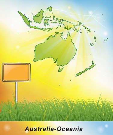 canberra: Map of australia-oceania