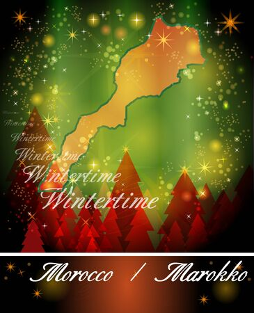 christmassy: Map of Morocco in Christmas Design