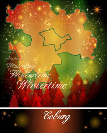 grub: Map of Coburg in Christmas Design