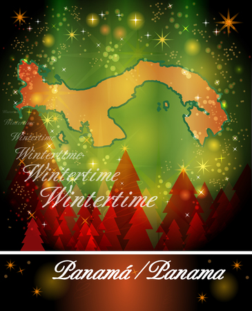 christmassy: Map of Panama in Christmas Design