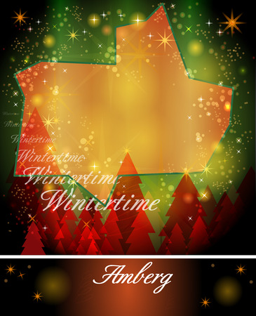 christmassy: Map of Amberg in Christmas Design