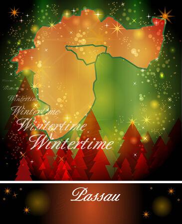 rott: Mapa de Passau en Dise�o de Navidad
