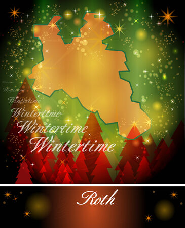 spalt: Map of Roth in Christmas Design