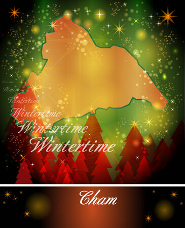 hallow: Map of cham in Christmas Design
