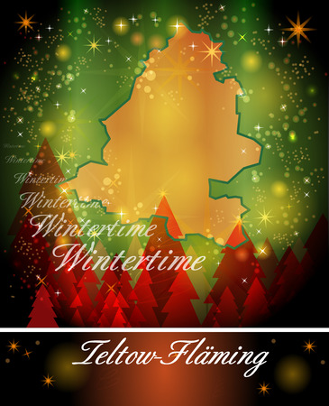 christmassy: Map of Teltow-Flaeming in Christmas Design